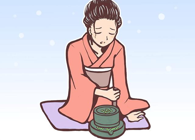 風俗由来の日常用語 お茶をひく