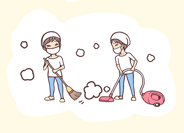 部屋を掃除して花粉症を防ぐ