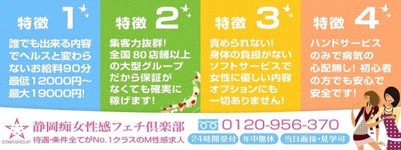 静岡痴女性感フェチ倶楽部の求人情報